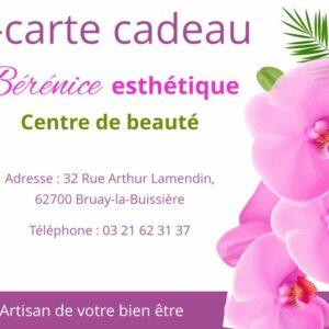 visuel e-carte cadeau Bérénice esthétique